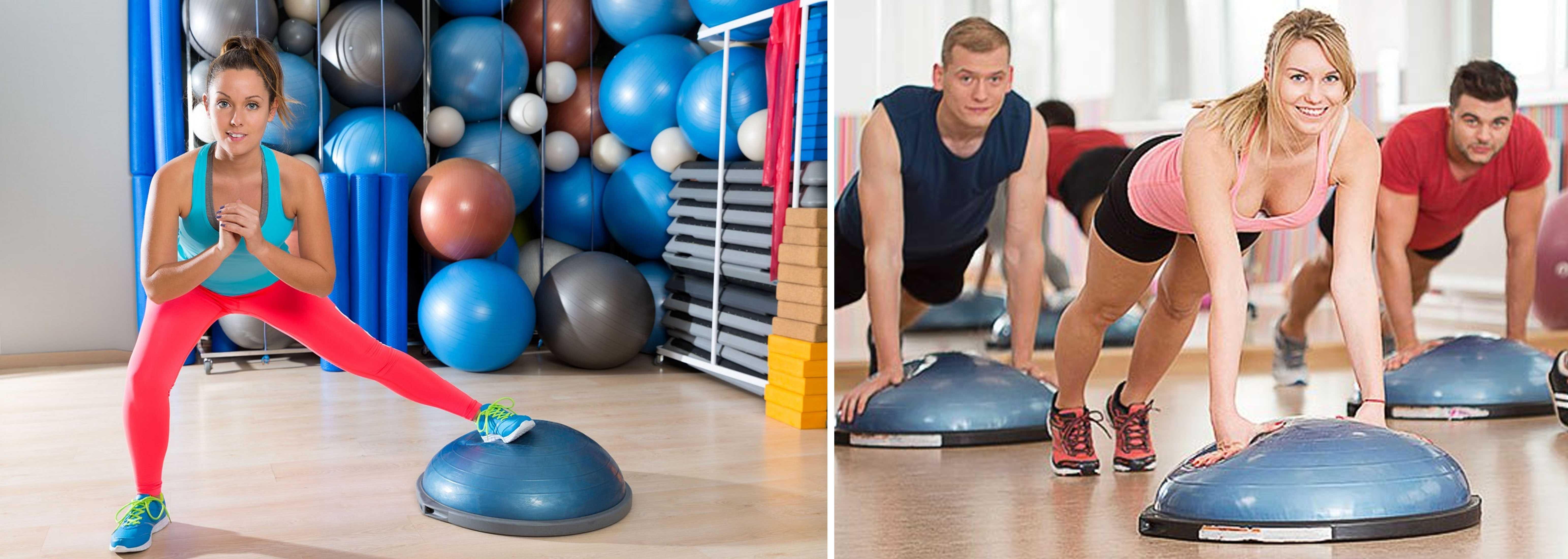 Упражнение на баланс тела: bosu