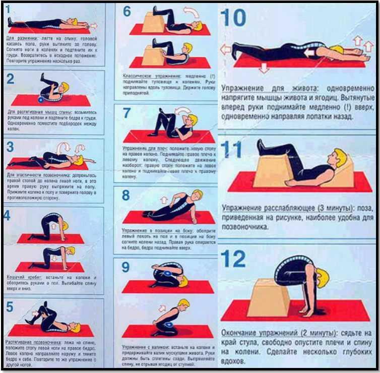 Упражнения при остеохондрозе: побеждаем болезнь движением!