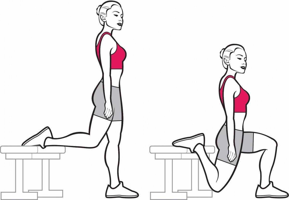 Как правильно делать выпады со штангой?