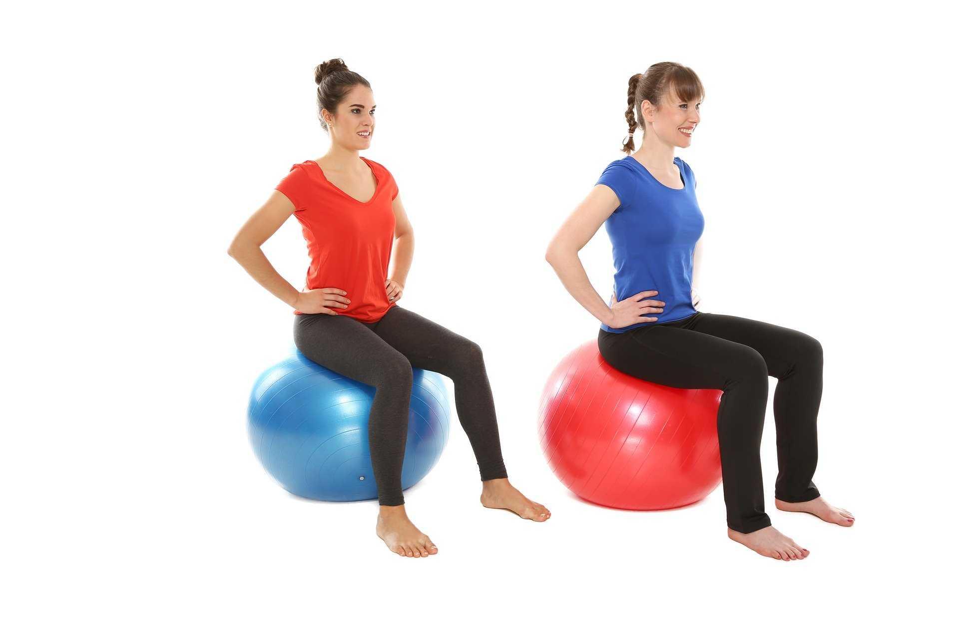 Йога на мяче: 125 фото и видео выполнения лучших упражнений для живота и спины