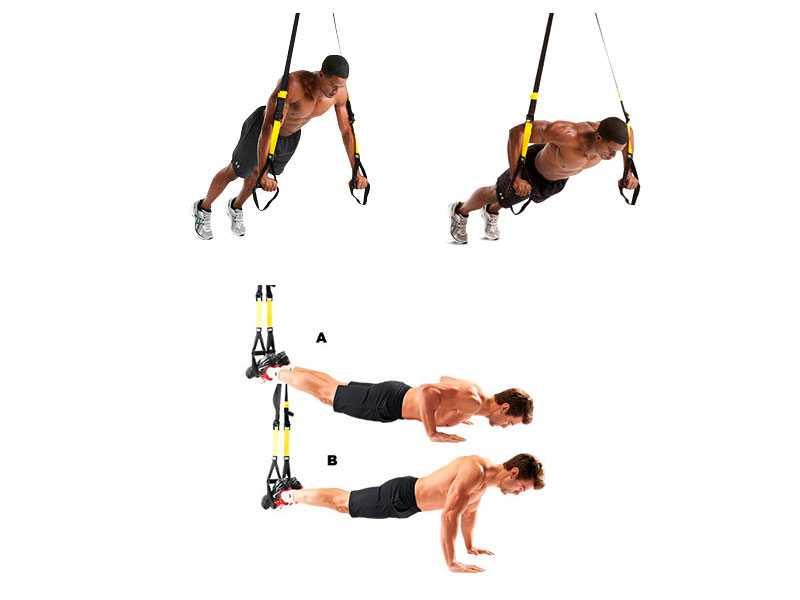 TRX — это специальный подвесной тренажер для функциональных тренировок Предлагаем вам 60 упражнений с TRX в гифках + готовый план тренировок для всех уровней