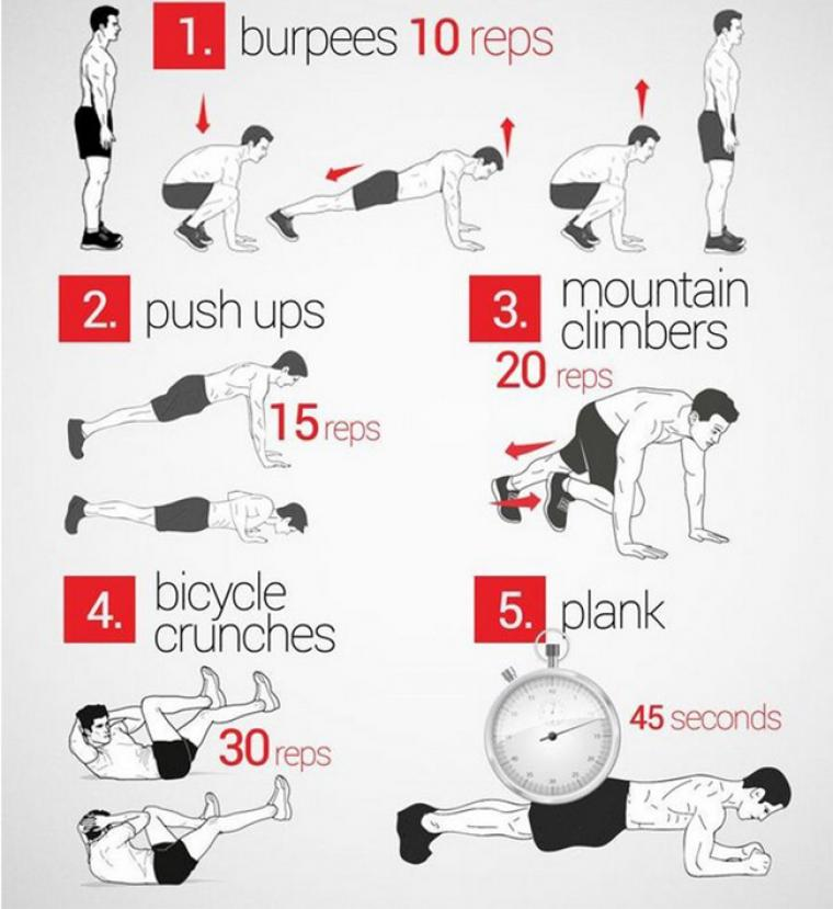 Кардио тренировка дома — программа, упражнения