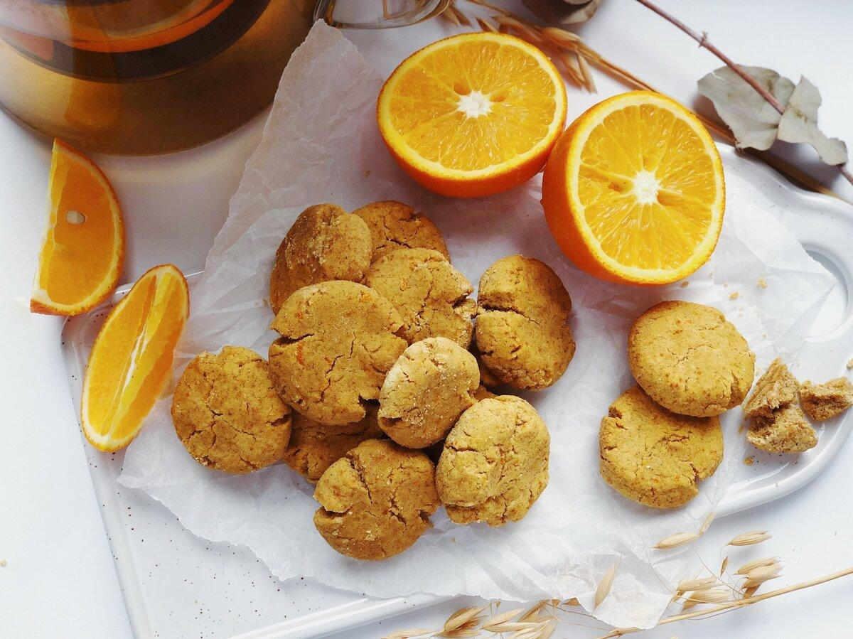 Мандариновое печенье