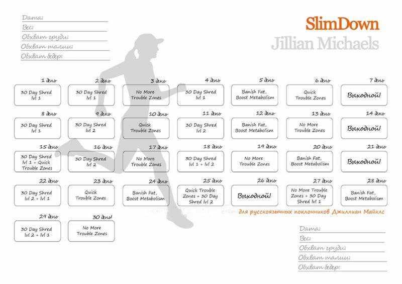 Тренировки джиллиан майклс: с чего начать. план на год!