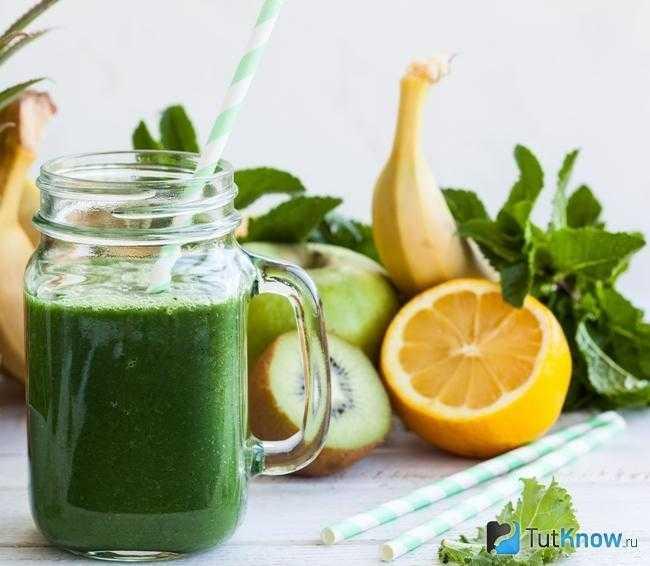 Зеленый смузи для похудения детокс рецепт с фото - 1000.menu