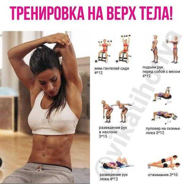 Список упражнений для рук с гантелями и без них