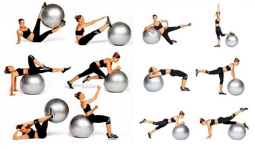 Упражнения на фитболе для похудения живота: занятия на мяче, тренировка мышц рук и ног
