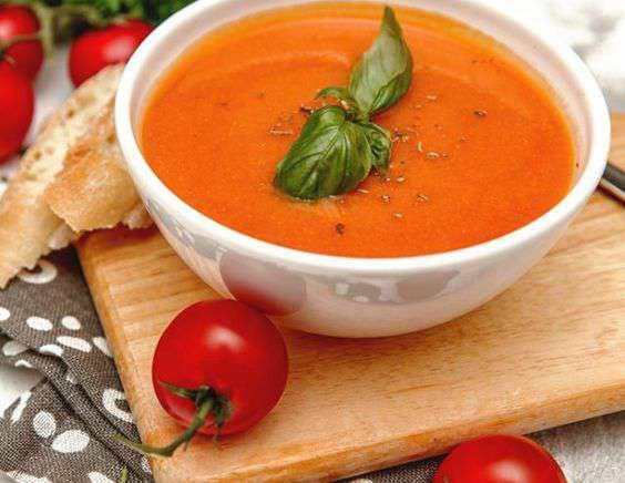 Томатный суп-пюре с чипсами из помидоров за 180 минут, пошаговый рецепт с фото