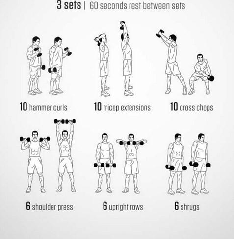 Упражнения для развития и укрепления мышц рук без гантелей   rulebody.ru — правила тела