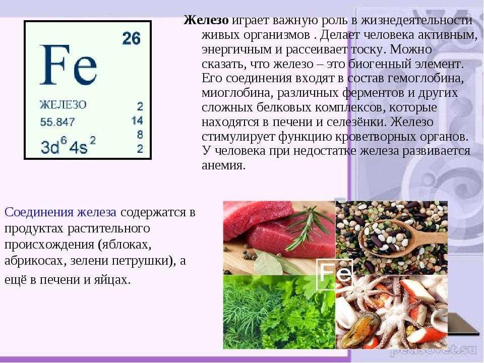Какими полезными свойствами обладает железо С чем может быть связана нехватка железа в организме женщины Железо способствует правильному обмену веществ
