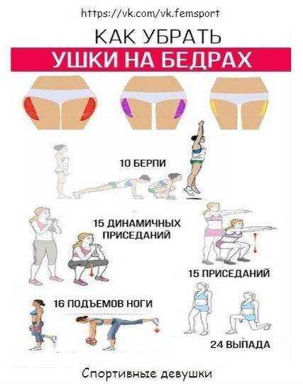 Как убрать ушки на бедрах эффективные упражнения для избавления от ушек на бедрах