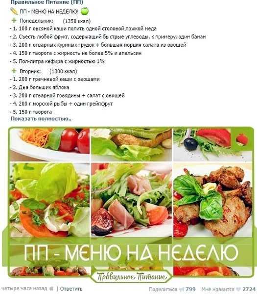 Диета пп — следуем правильному питанию для похудения
