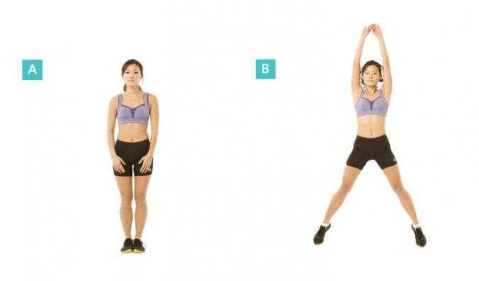 Джампинг джек, упражнение для похудения