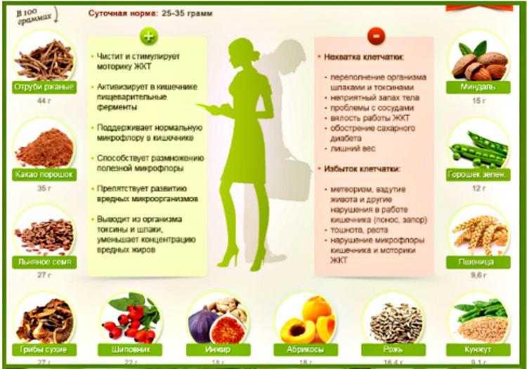 Вся польза клетчатки, для чего она нужна организму и в каких продуктах содержится