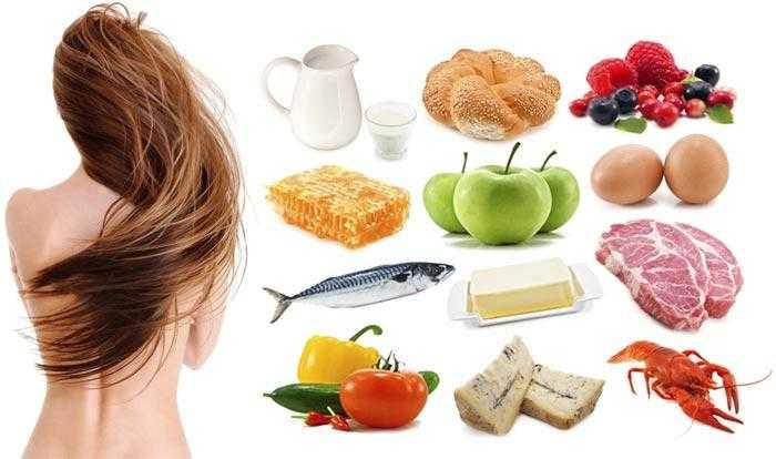 Питание для роста волос — продукты питания и витамины