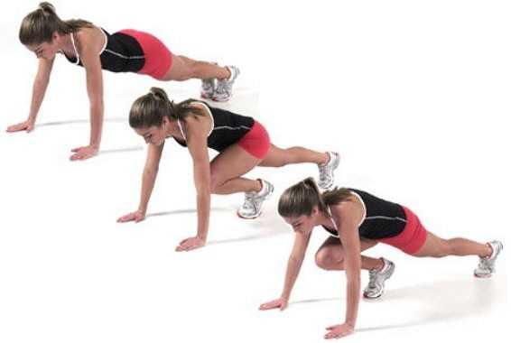 Как тренировать мышцы кора с помощью упражнения «скалолаз»?