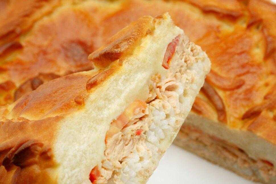 Пирог с семгой - рецепт из дрожжевого теста с пошаговыми фото   ne-dieta