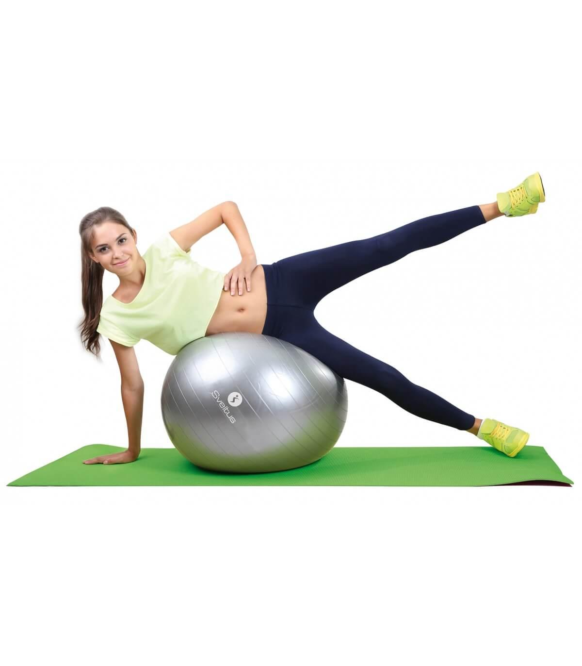 Упражнения на фитболе - комплекс для тренировки с мячом