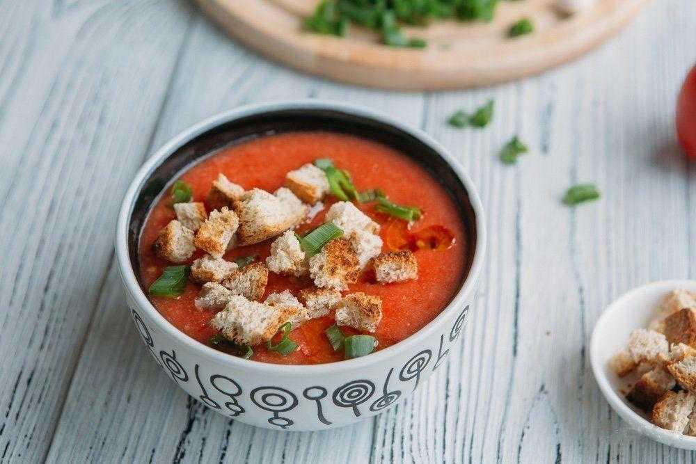 Томатный горячий суп гаспачо - пошаговый рецепт