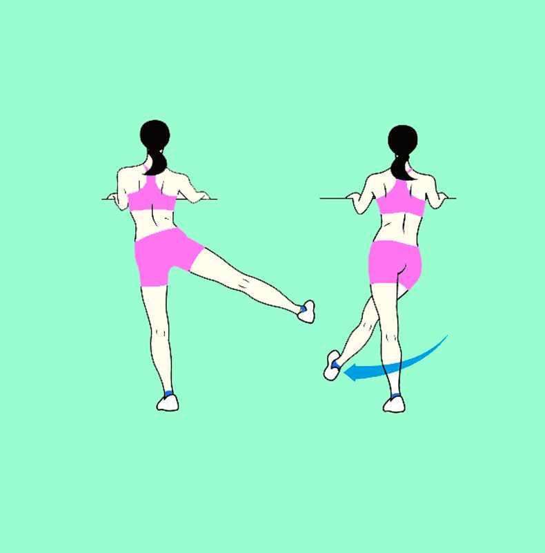 Как делать махи ногами, чтобы похудеть в бёдрах?