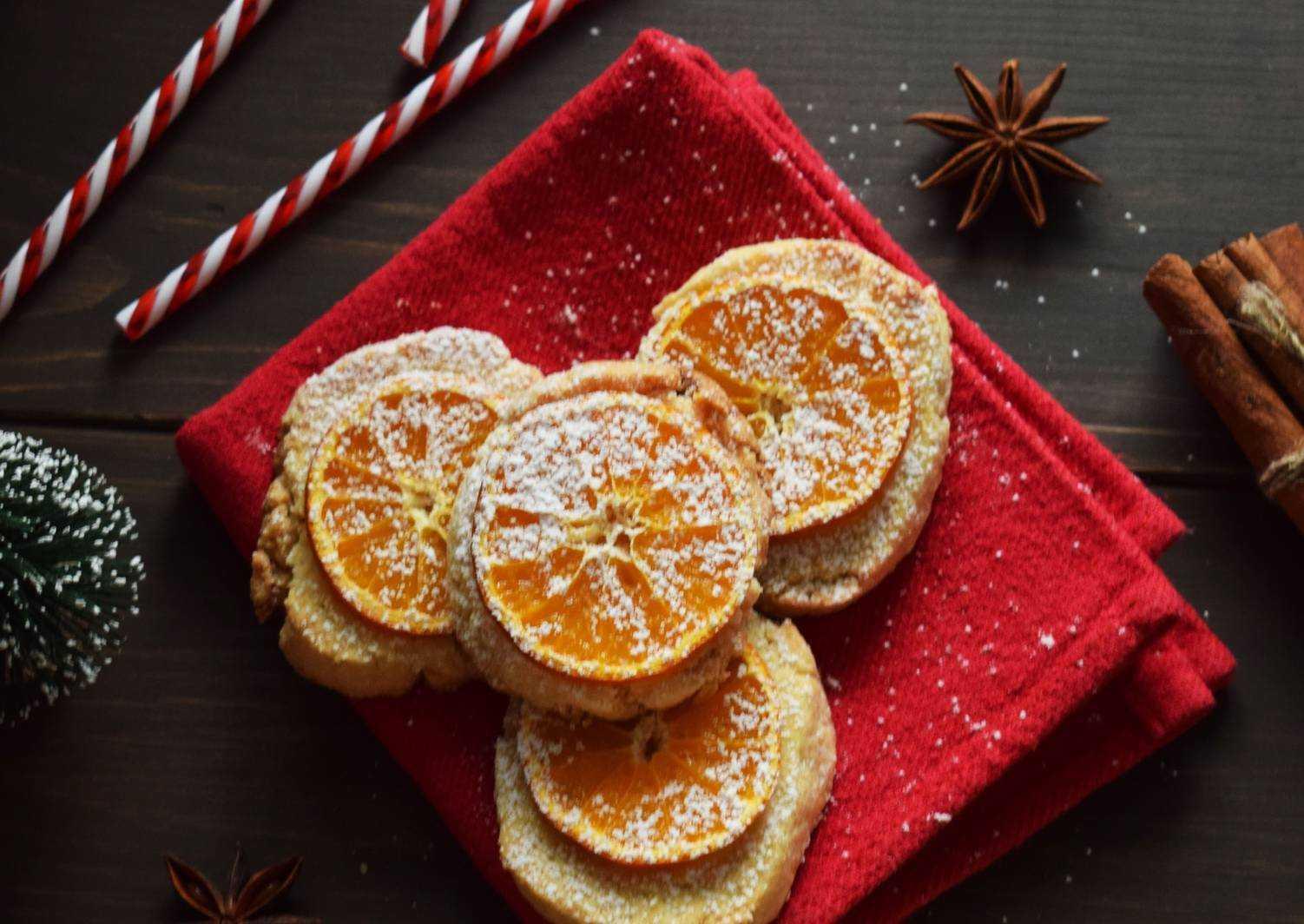 Печенье с мандариновым джемом