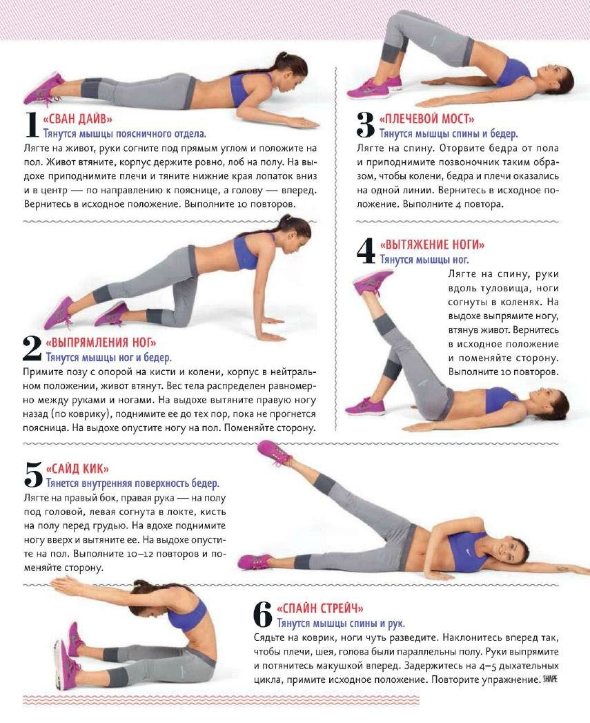 Топ-25 упражнений от целлюлита для ягодиц и ног без приседаний, выпадов и прыжков