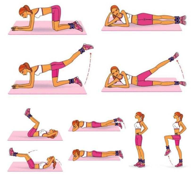 Тренировки с утяжелителями для ног — бег, упражнения на бедра и ягодицы Выбор снаряда и подбор веса Делаем своими руками Польза и противопоказания
