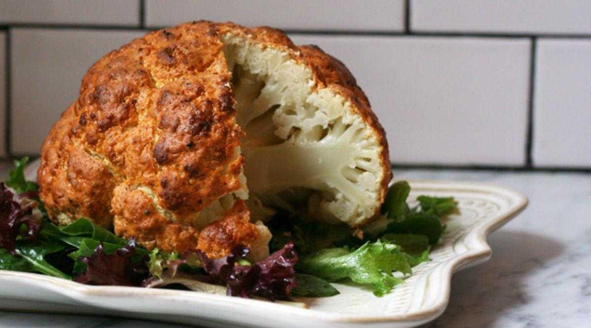 Цветная капуста, запечённая с сыром