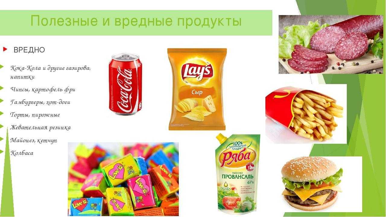 Вредные продукты питания: список самых бесполезных продуктов