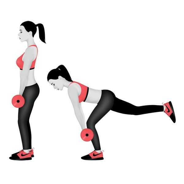 Это подборка самых эффективных упражнений с гантелями для бицепса бедра с гантелями (мышцы задней поверхности бедра) + два готовых варианта тренировок (ФОТО)