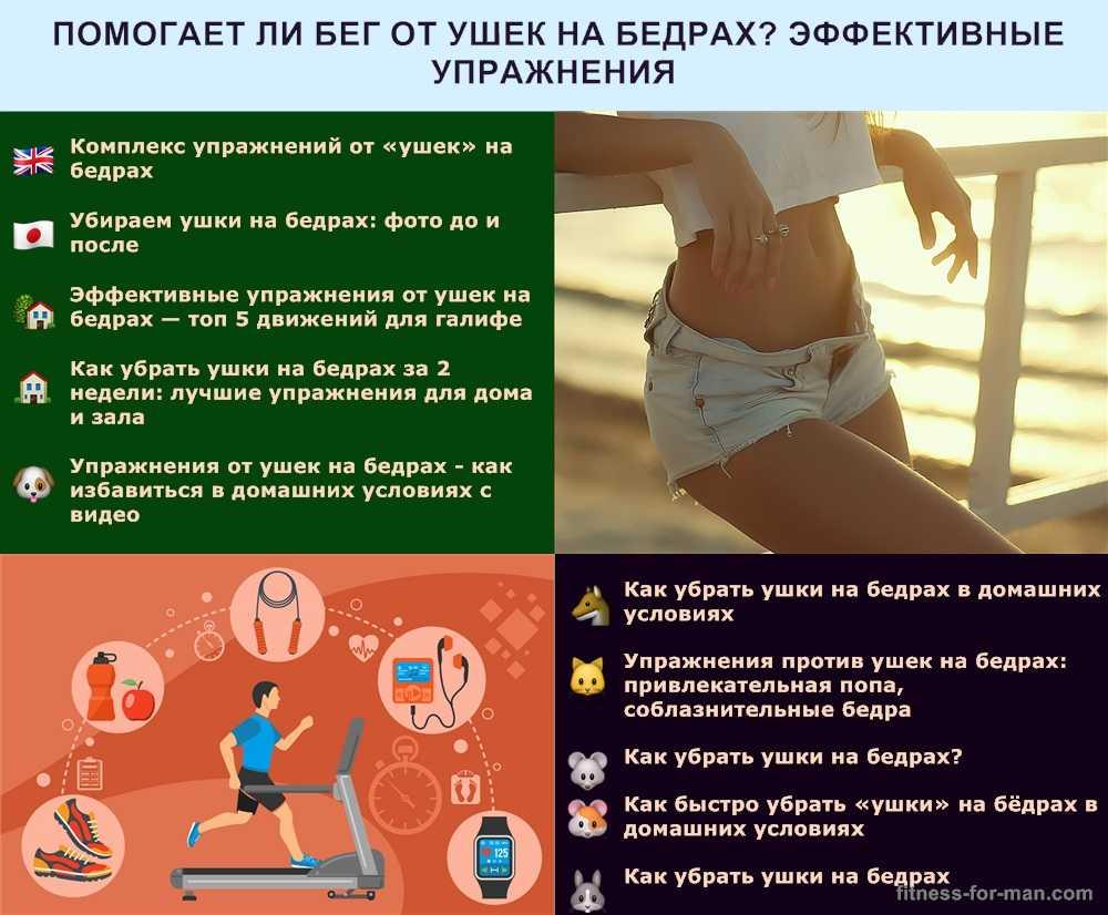 Как убрать ушки на бедрах: тренировки, питание, массаж, обертывания, баня