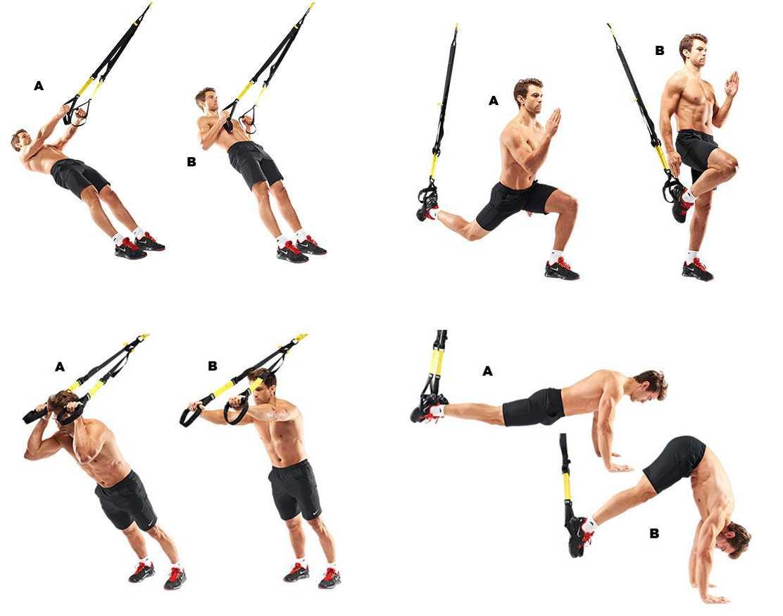 Топ 60 лучших упражнений с TRX: подборка в гифках