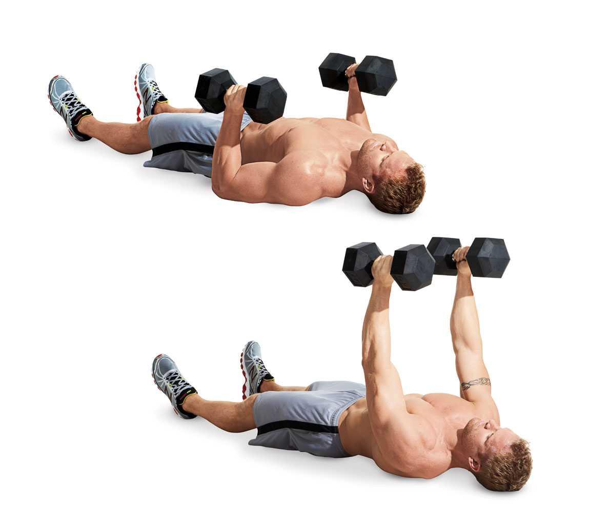 Пуловер - упражнение для развития грудных и широчайших мышц спины