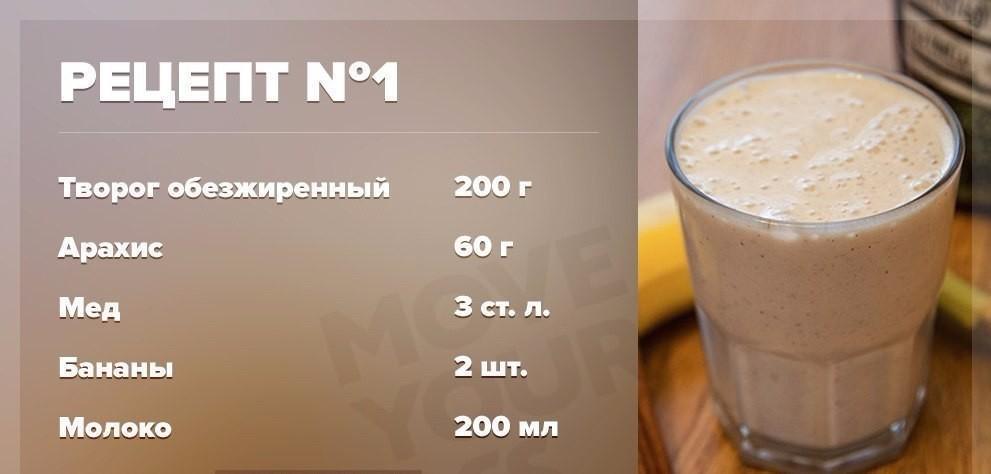 Пять вариантов приготовления Гейнера в домашних условиях (с указанием калорий, белков, жиров и углеводов)