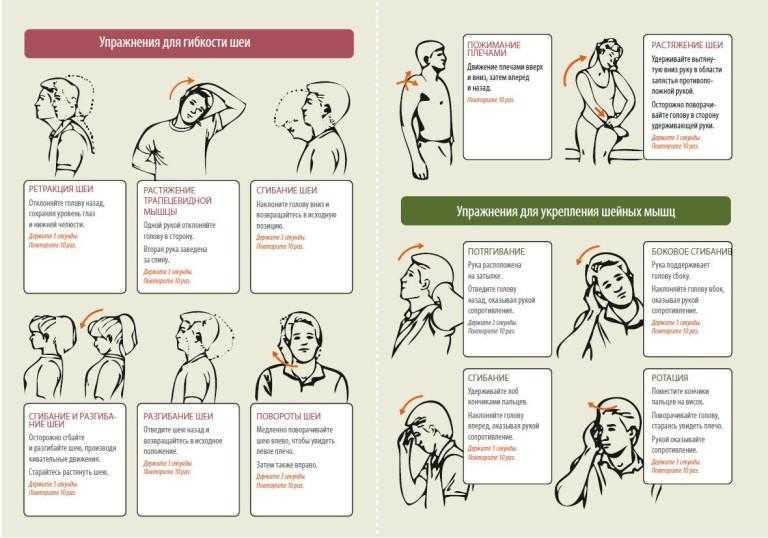 Упражнения для мышц шеи и укрепление шейного отдела и спины