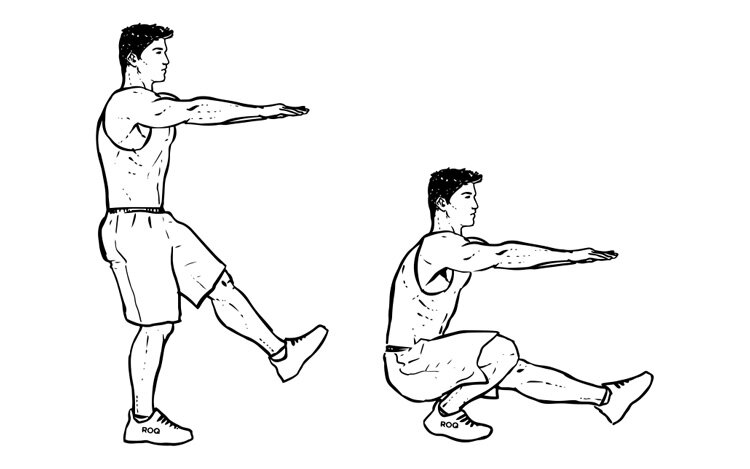 Приседания на одной ноге: польза, техника выполнения, ошибки. приседания на одной ноге (упражнение пистолетик) приседания на 1 ноге эффект