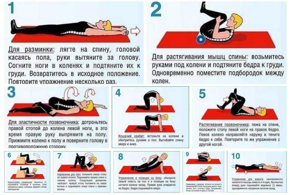 Боль в пояснице: упражнения для облечения и снятия - самый эффективный комплекс лфк и лечебная физкультура или йога - какие делать асаны и можно ли плавать когда болит спина