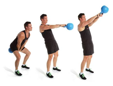 Махи с гирей – тренировка силы и выносливости