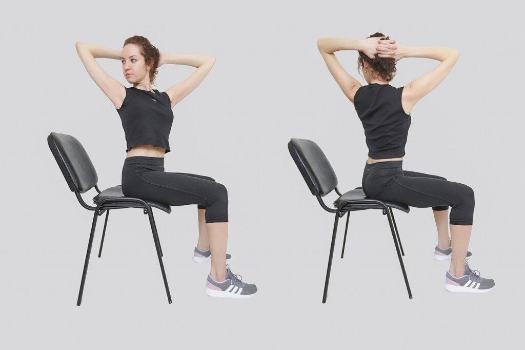Мы вам поможем поддержать форму с помощью простого комплекса упражнений для разминки и похудения, гимнастика сидя на стуле - фитнес в офисе от журнала на портал