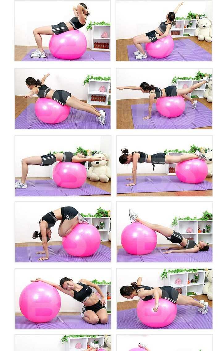 Эффективные комплексы упражнений на фитболе для взрослых и детей