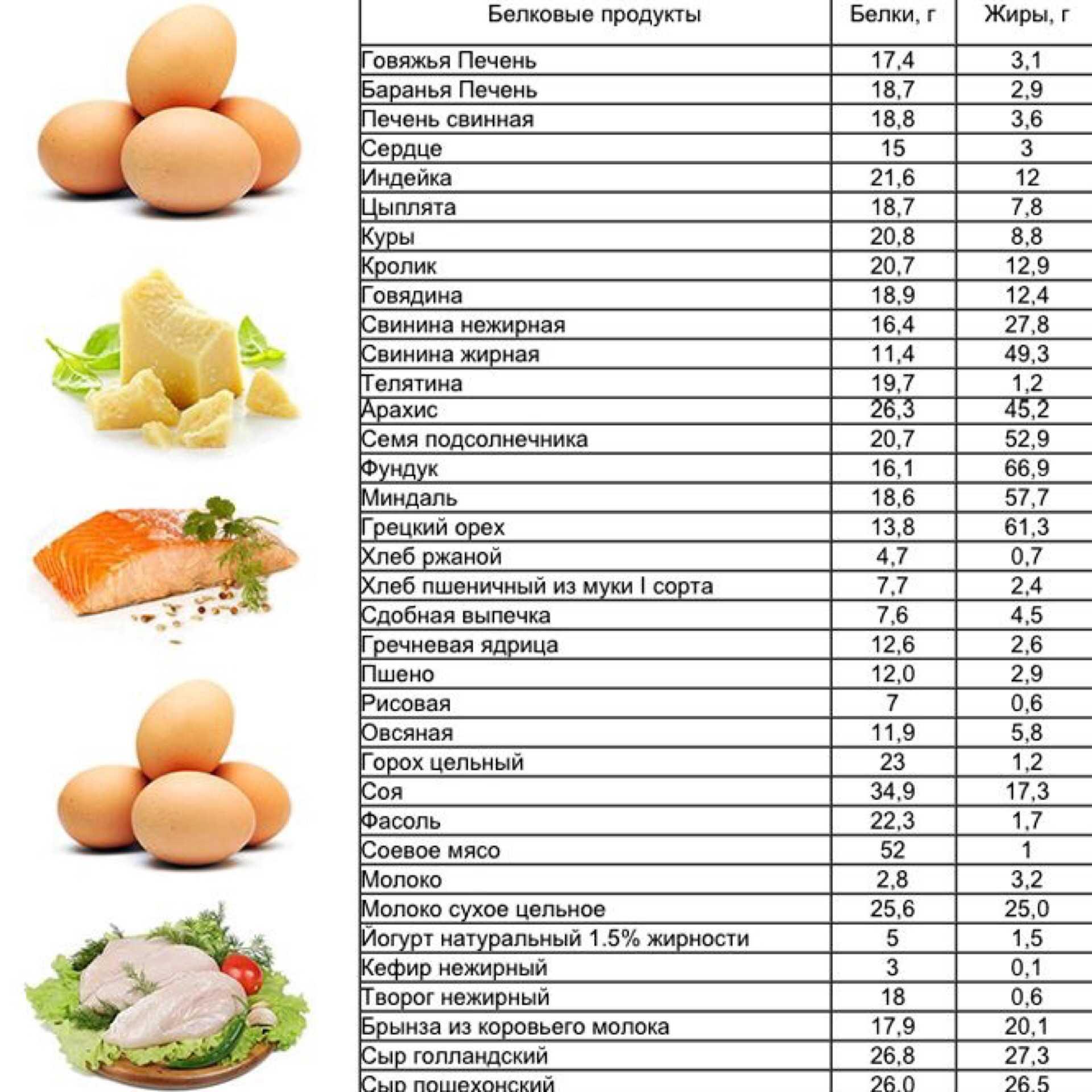 Многие диеты для похудения имеют в основе белковые продукты Узнаем как они действуют на организм Ознакомьтесь с полным списком белковых продуктов в удобной таблице