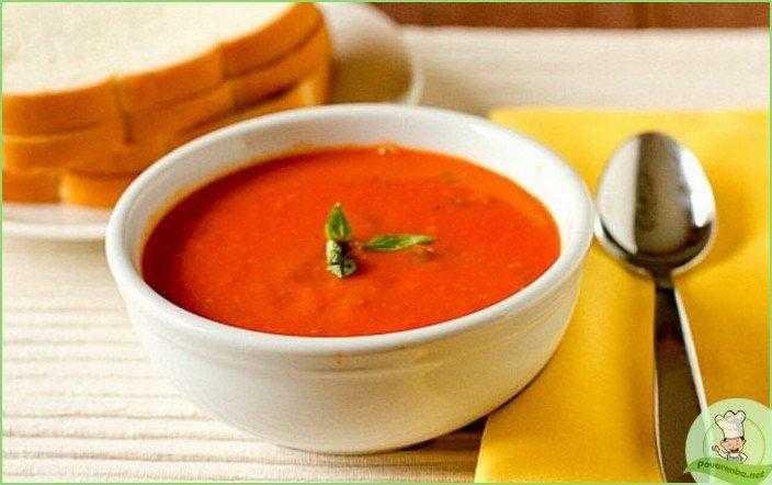 Томатный суп с чипсами из цуккини – кулинарный рецепт